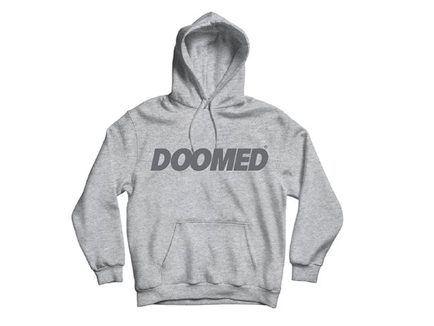 "Doomed Brand ""EB Hood"" Hooded Pullover - Grey"
