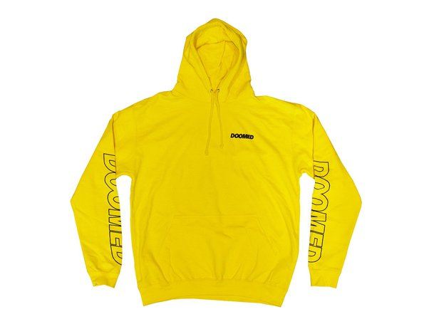 "Doomed Brand ""Marked"" Hooded Pullover - Yellow"