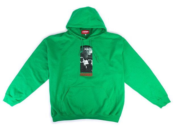 "Doomed Brand ""The End"" Hooded Pullover - Neon Green"