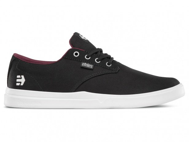 "Etnies ""Jameson SC"" Shoes - Black/White/Burgundy (Chase Hawk)"