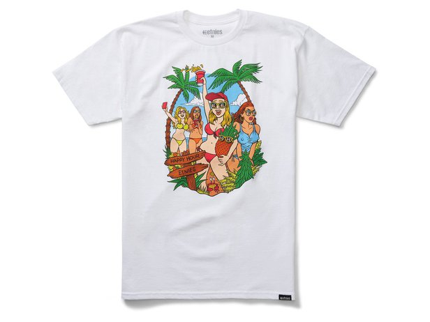 "Etnies X Happy Hour ""Beach Party"" T-Shirt - White"