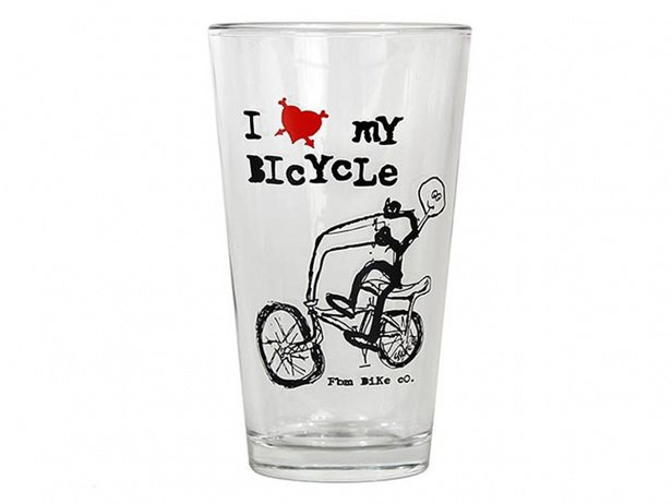 "FBM ""I Love My Bike"" Glass"