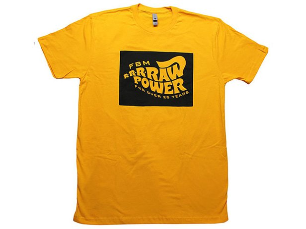 "FBM ""Raw Power"" T-Shirt - Golden Yellow"