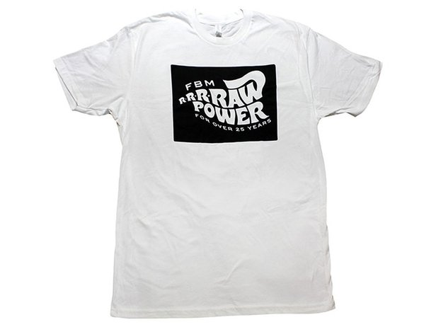 "FBM ""Raw Power"" T-Shirt - White"
