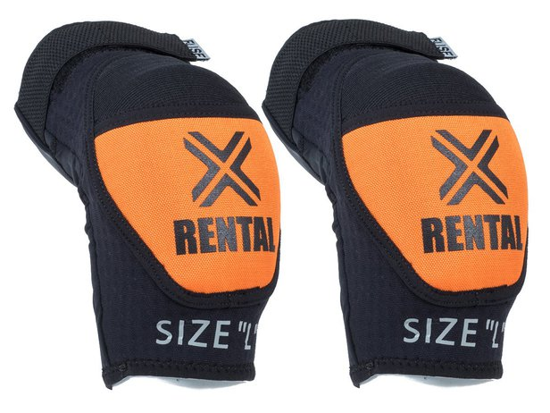 "FUSE ""Alpha Rental"" Elbow Pads - Black/Orange"