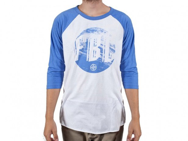 "Fit Bike Co. ""Grain"" 3/4 Longsleeve - White/Blue"