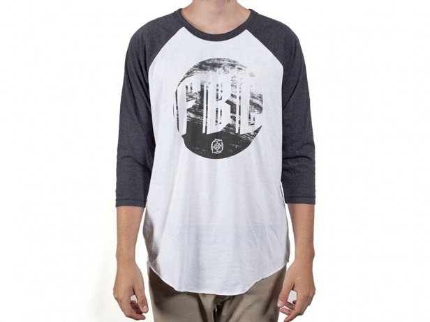 "Fit Bike Co. ""Grain"" 3/4 Longsleeve - White/Grey"