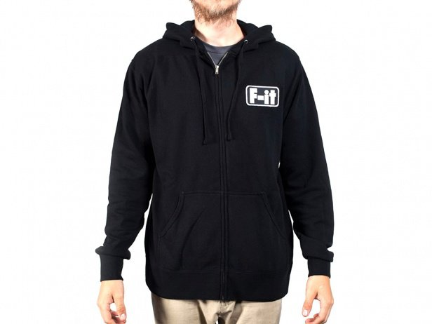 "Fit Bike Co. ""Patch"" Hooded Zipper - Black"