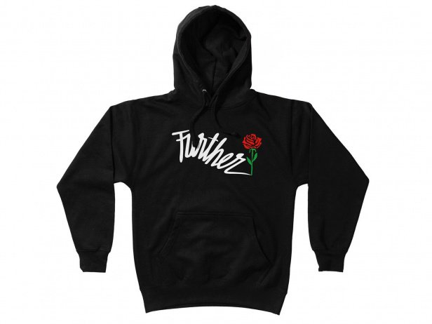 "Further Brand ""Shock Rose"" Hooded Pullover"