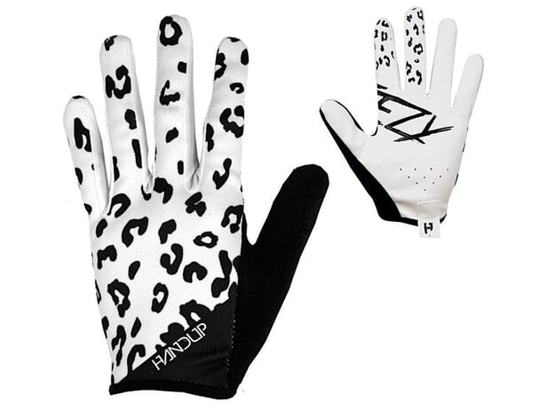 "Handup ""Most Days White Leopard"" Gloves - Black/White"