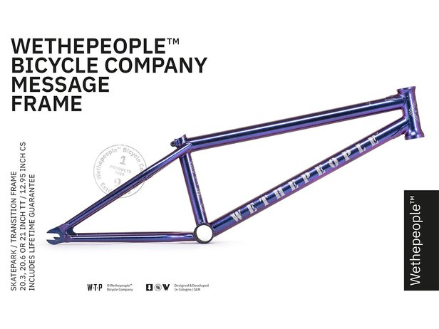 "wethepeople ""Message"" 2019 BMX Rahmen - Galactic Purple"