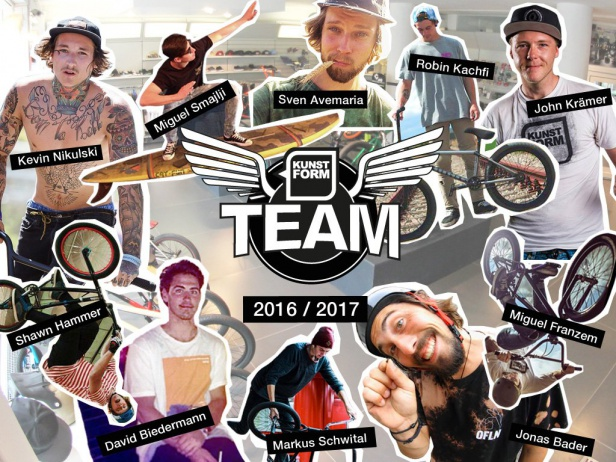 kunstform BMX Shop Team - Season 2016/2017