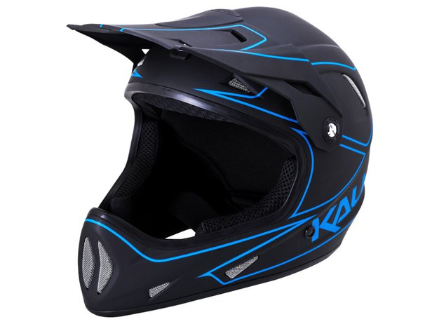 "Kali Protectives ""Alpine"" Fullface Helm - Black/Blue"