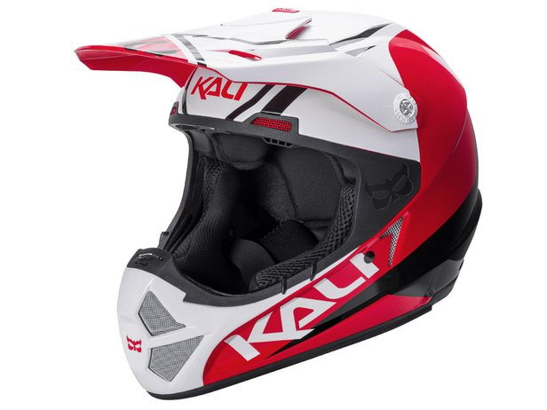 "Kali Protectives ""Shiva 2.0"" Fullface Helm - Black/White/Red"