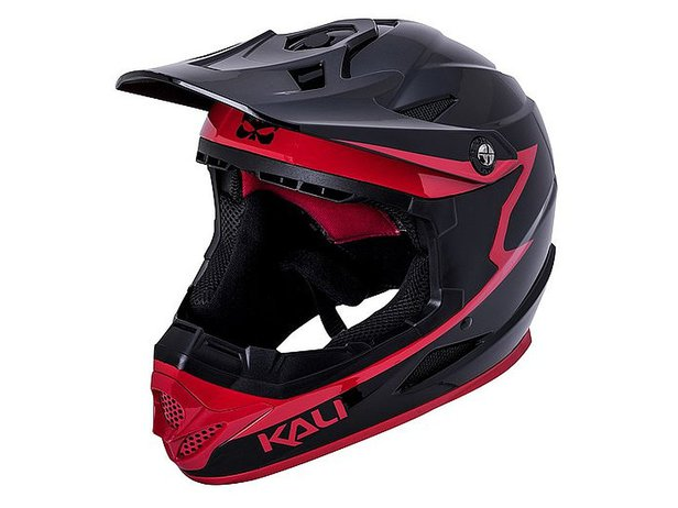 "Kali Protectives ""Zoka"" Fullface Helm - Black/Red"