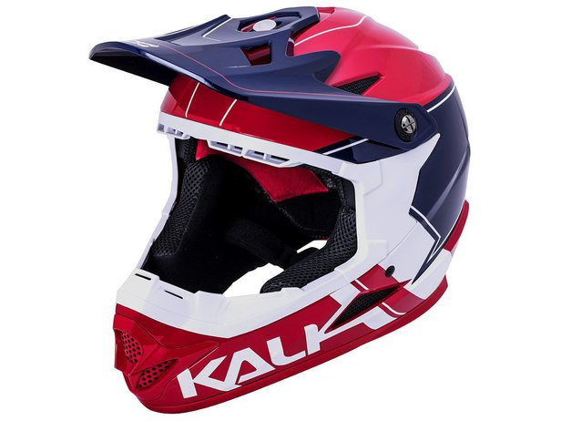 "Kali Protectives ""Zoka"" Fullface Helm - Blue/White/Red"