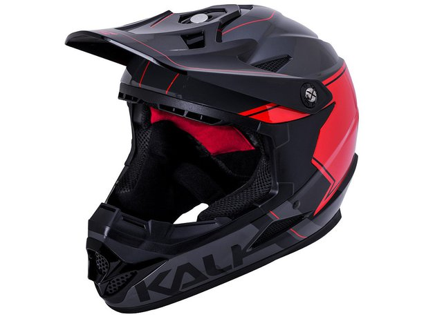"Kali Protectives ""Zoka"" Fullface Helm - Grey/Black/Red"
