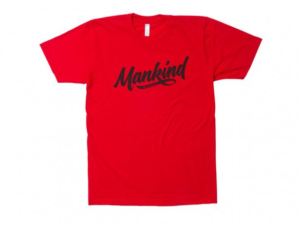 "Mankind Bike Co. ""Groove"" T-Shirt - Red"
