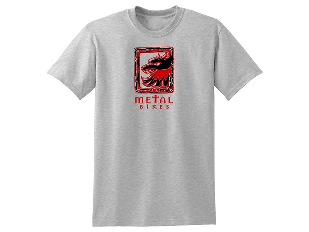 "Metal Bikes ""Griffin Logo"" T-Shirt - Grey"