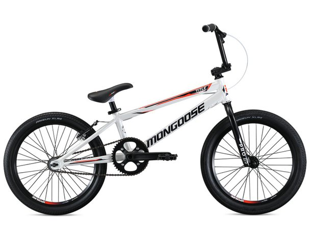 "Mongoose ""Title Elite Pro"" 2019 BMX Race Bike - White"