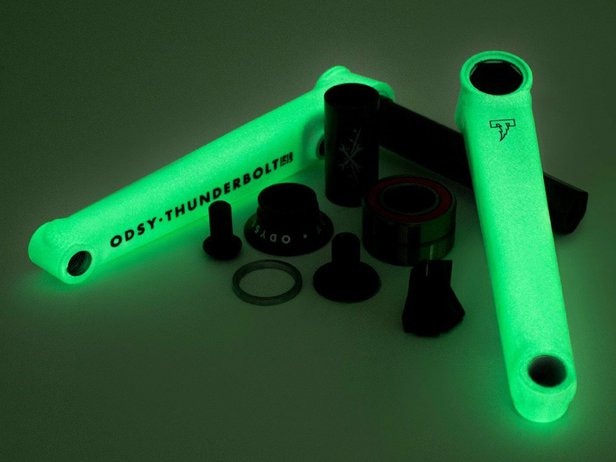 "Odyssey BMX ""Thunderbolt+"" BMX Kurbel - Glow In The Dark"