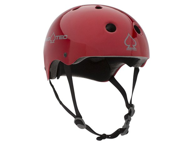 "ProTec ""Classic Certified"" Helm - Red Metal Flake"