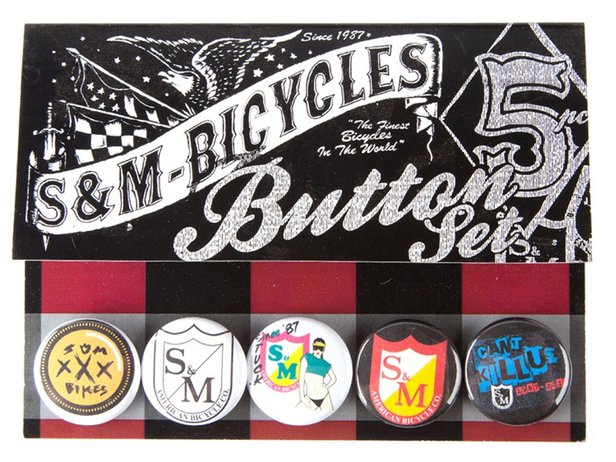 S&M Bikes Button Set