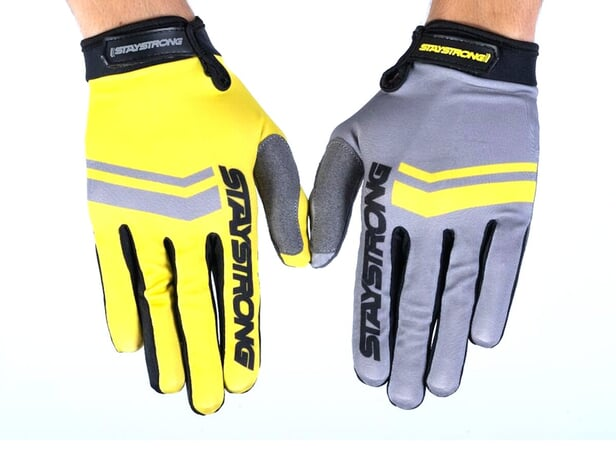 "Stay Strong ""Opposite"" Gloves - Grey/Yellow"