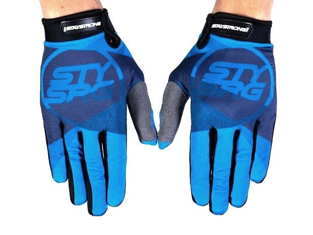 "Stay Strong ""Tricolour"" Gloves - Blue"