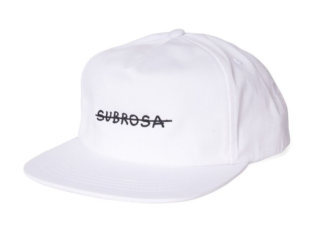"Subrosa Bikes ""Crossed Snapback"" Cap - White/Black"