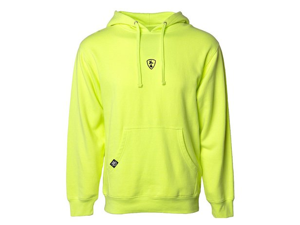 "Subrosa Bikes ""Shield"" Hooded Pullover - Safety Yellow"