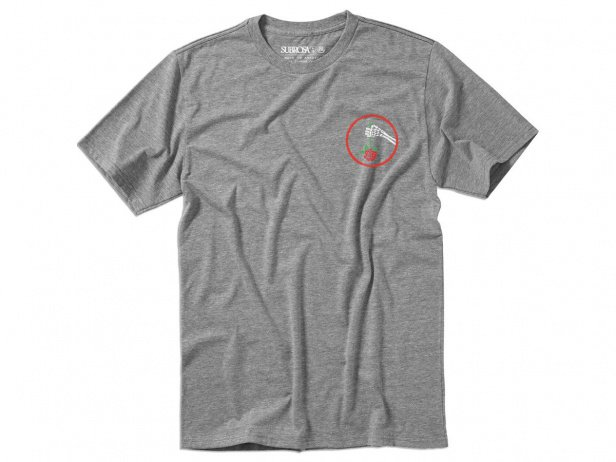 "Subrosa Bikes ""Under The Rose"" T-Shirt - Heather Grey"