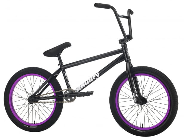 "Sunday Bikes ""Forecaster Alec Siemon"" 2021 BMX Rad - Gloss Black/Purple 