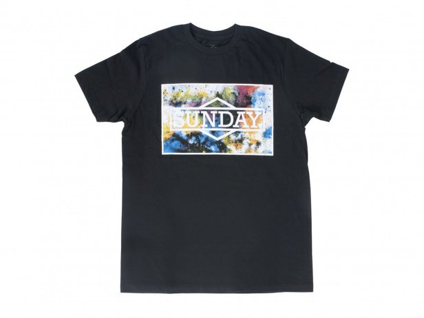 "Sunday Bikes ""Watercolor"" T-Shirt - Black"