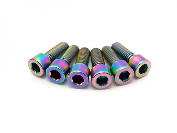 "TLC Bikes ""Metric Titanium"" Stem Bolts Kit - Oil Slick"