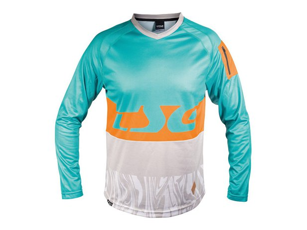"TSG ""Breeze Jersey"" Longsleeve - Turquoise-Acid Orange"