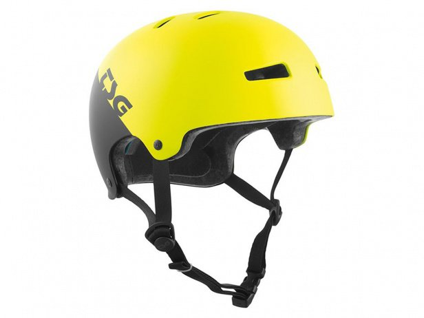"TSG ""Evolution Youth Graphic Design"" Helmet - Divided Acid Yellow/Black"