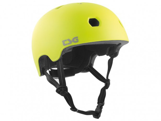 "TSG ""Meta Solid Colors"" Helm - Satin Acid Yellow"