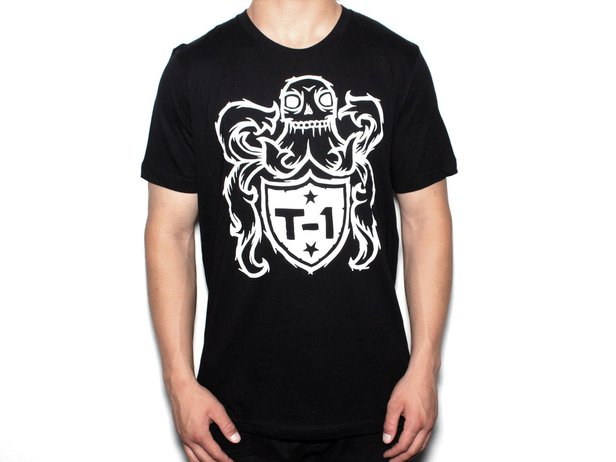 "Terrible One ""Crest"" T-Shirt - Black/White"