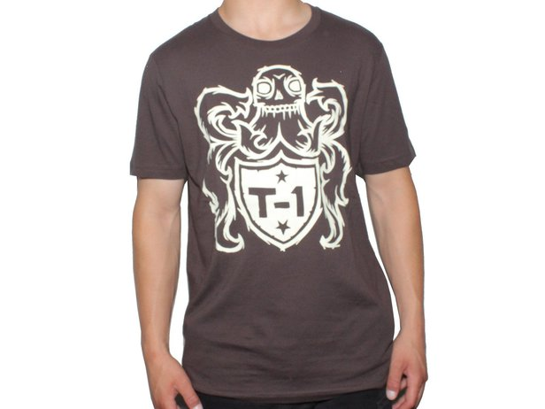 "Terrible One ""Crest"" T-Shirt - Brown"