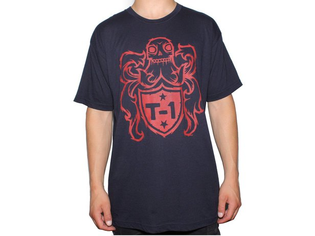 "Terrible One ""Crest"" T-Shirt - Dark Blue/Red"