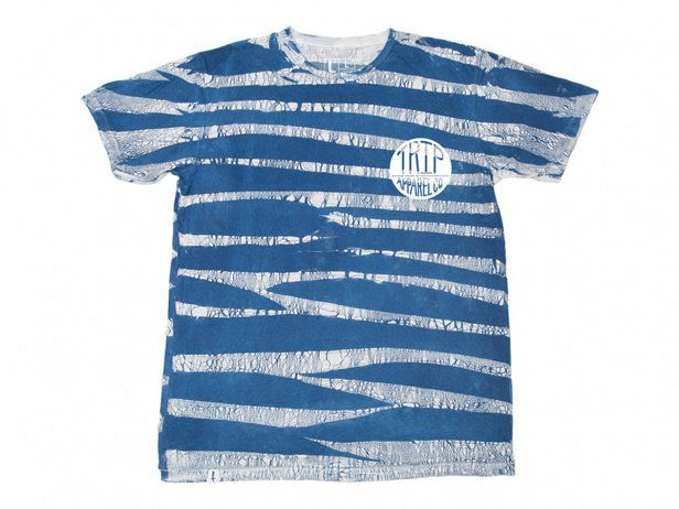 "The Trip ""Trixton"" T-Shirt - Tie Dye Blue Stripe"