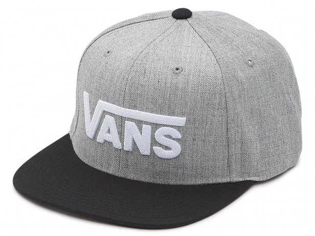"Vans ""Drop V II"" Kappe - Heather Grey/Black"