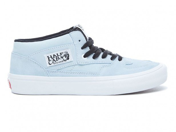 "Vans ""Half Cab Pro"" Shoes - Baby Blue/White"