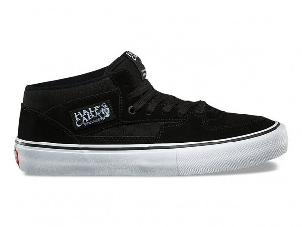 "Vans ""Half Cab Pro"" Shoes - Black/Black/White"