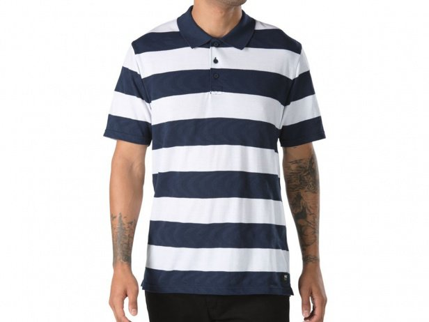 Vans x Spitfire Polo Shirt - White-Dressed Blues