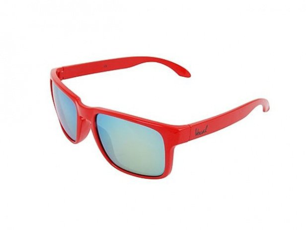 "Vocal ""Squint Trans-Black"" Sonnenbrille - Rot"