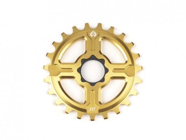 "eclat ""Channel 19"" Spline Drive Sprocket - Gold"