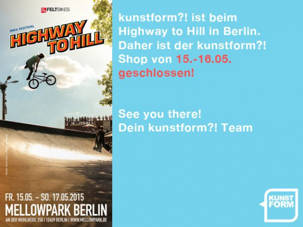 kunstform?! BMX Shop beim Highway to Hill in Berlin