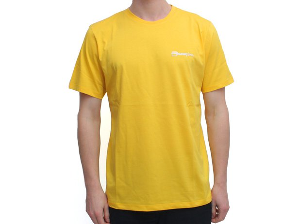 "kunstform ""Back Logo v2"" T-Shirt - Yellow"